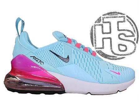 efd96c1d Женские кроссовки Nike Air Max 270 Flyknit Blue/White/Pink - купить ...
