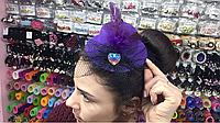 Шляпка на уточках розовый и фиолетовый цвет