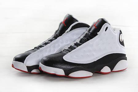 12a0648b Кроссовки баскетбольные Air Jordan 13 Retro черно-белые топ реплика, фото 2