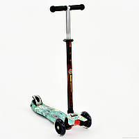 "Самокат MAXI ""Best Scooter"" алюминиевыйсо светящимися колесами, А 24653 /779-1398"