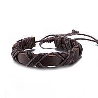 Браслет кожаный коричневый 6148м-а, фото 1