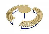Скамейка Солнце со столиком