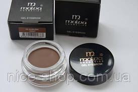 Помадка для бровей Malva Cosmetics Gel Eyebrow,тон № 03