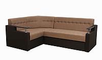 Угловой диван Garnitur.plus Элегант 1 коричневый 165 см