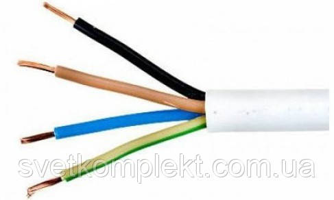 Провод гибкий ПВС 4х0.75 медь