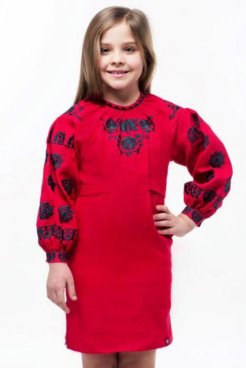 """Дитяча вишита лляна сукня """"Мамина ласка"""""""