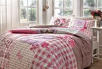 Двуспальный Евро комплект Тас ранфорс  Lavinia Pink