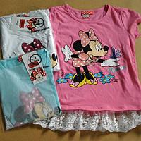 Футболка для девочек Disney оптом,3-8 лет .