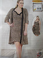 Великого розміру халат з ночнушкою., фото 1