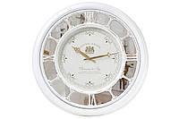 """Часы настенные """"Зеркальная классика"""", белый. с зеркалом, 56 см."""