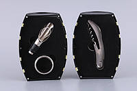 """Набор для вина Lefard """"Бочка"""" 3 предмета (штопор, кольцо для бутылки, дозатор) желтый, 752-013"""
