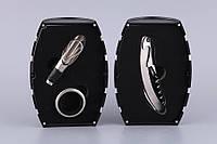 """Набор для вина Lefard """"Бочка"""" 3 предмета (штопор, кольцо для бутылки, дозатор) черный, 752-014"""
