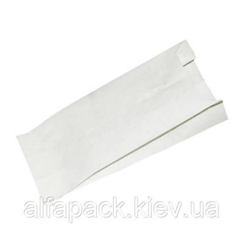 Бумажный пакет саше белый жиростойкий 170х100х50 мм