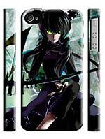 Чехол на  iPhone 4/4s black rock shooter dragon slayer