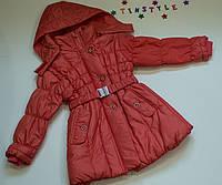 Демисезонная куртка-пальто для девочки  (рост 98-110 см), фото 1