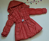 Демисезонная куртка-пальтишко для девочки  (рост 98-110 см)