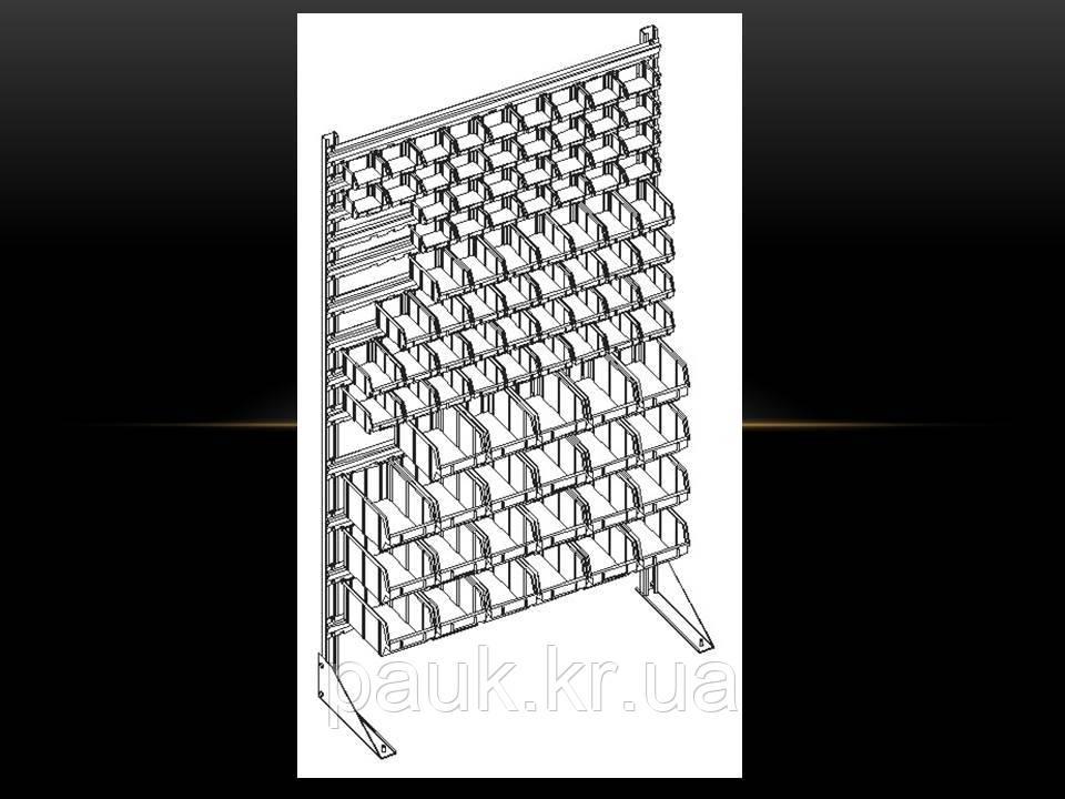 Стелаж для метизних ящиків односторонній 1800мм 96 ящиків,Стеллаж для метизных ящиков односторонний 1800мм  - ООО «ПАУК» в Кропивницком