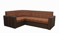 Угловой диван Garnitur.plus Элегант 2 оранжево-коричневый 165 см