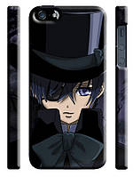 Чехол на  iPhone 5/5s dark butler Сиэль в шляпе