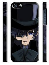 Чехол на  iPhone 5/5s dark butler Сиэль в шляпе