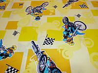 Ткань для пошива постельного белья ранфорс Пакистан Мото на желтом, фото 1