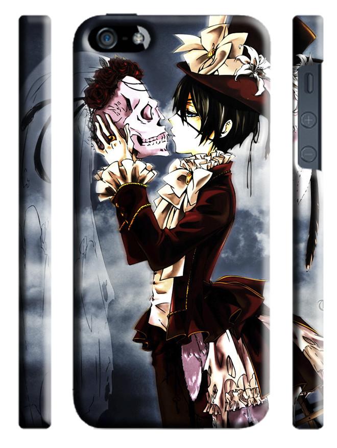 Чехол  dark butler Сиэль с черепом