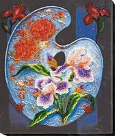 Набор для вышивки бисером на холсте «Цветочная палитра» AB-581