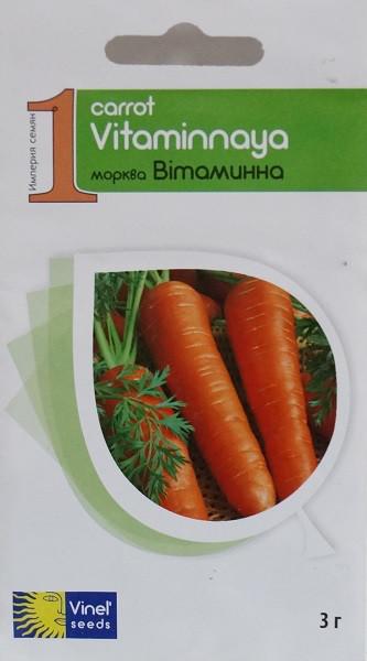 Семена моркови Витаминная 3 г, Империя семян