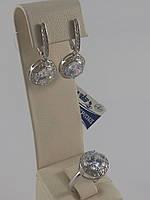 Комплект из серебра 925 пробы с фианитом (арт.02-НВ10312)