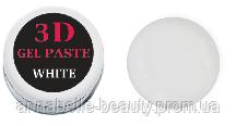 3 D гель паста (white) белая 5мл