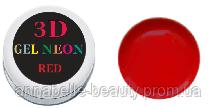 3 D гель паста (red) красная 5мл