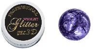 3 D гель паста (glitter violet) фиолетовый глиттер 5мл