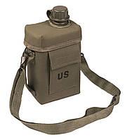 Пластиковая фляга 2л в чехле с плечевым ремнём MilTec Patrol Olive 14514001