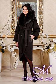 Женское коричневое зимнее пальто (р. 44-54) арт. 1089 Тон 16