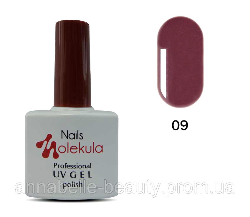 Гель-лак 11мл №09 какао-пурпур