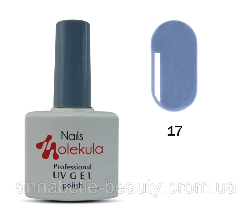 Гель-лак 11мл №17 лазурный серый