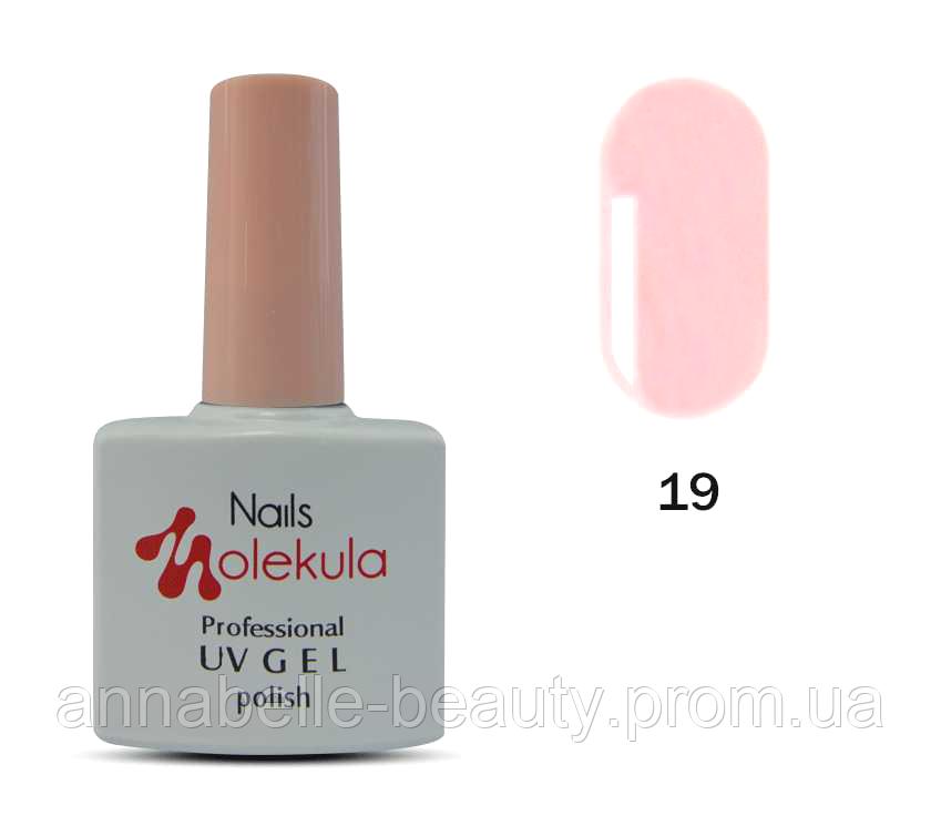 Гель-лак 11мл №19 нежно-розовый френч