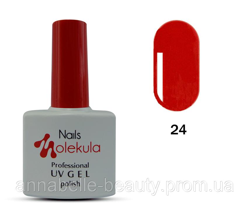 Гель-лак 11мл №24 красный класический