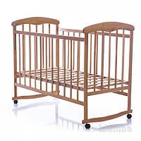 Кроватка детская Наталка ясень светлый не лакированый 323