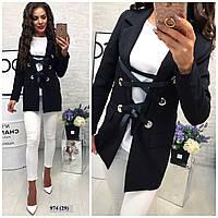 Женский пиджак со шнуровкой 974 (29)