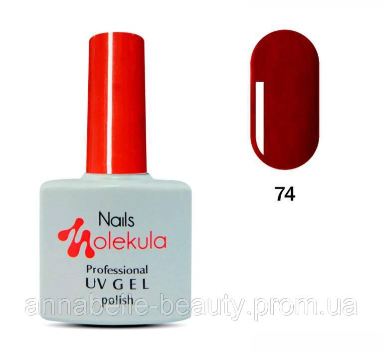 Гель-лак 11мл №74 темно-красный