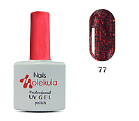 Гель-лак 11мл №77 темно-красный с блестками