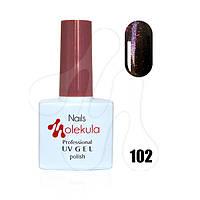 Гель-лак 11мл №102 темно-красное мерцание