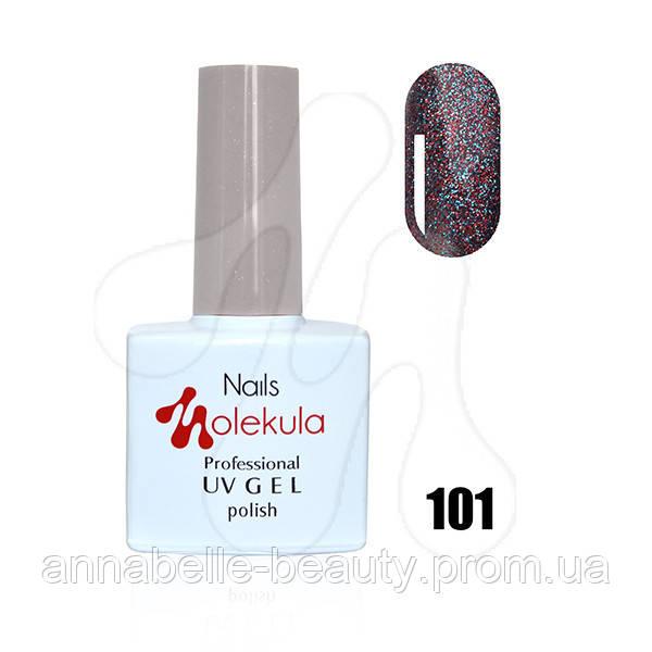 Гель-лак 11мл №101 красно-голубое мерцание