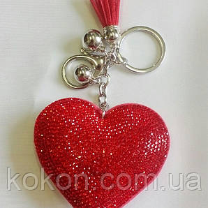 Брелок -сердце, с кисточкой