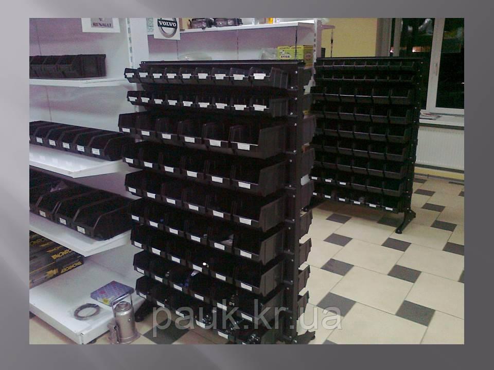 Стелаж 1500мм 120 ящиків, під метизні ящики двосторонній