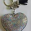 Брелок -сердце, с кисточкой, фото 2