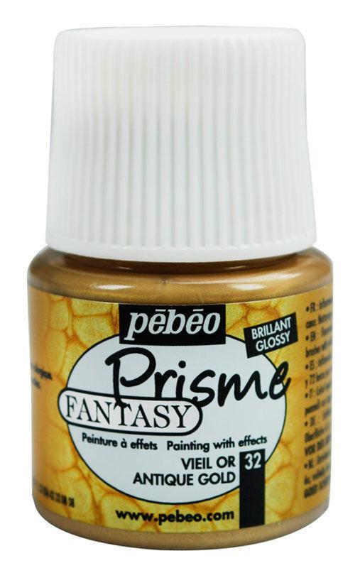Краска лаковая для всех поверхностей PEBEO Fantasy Prisme 45мл Старое золото P-166032