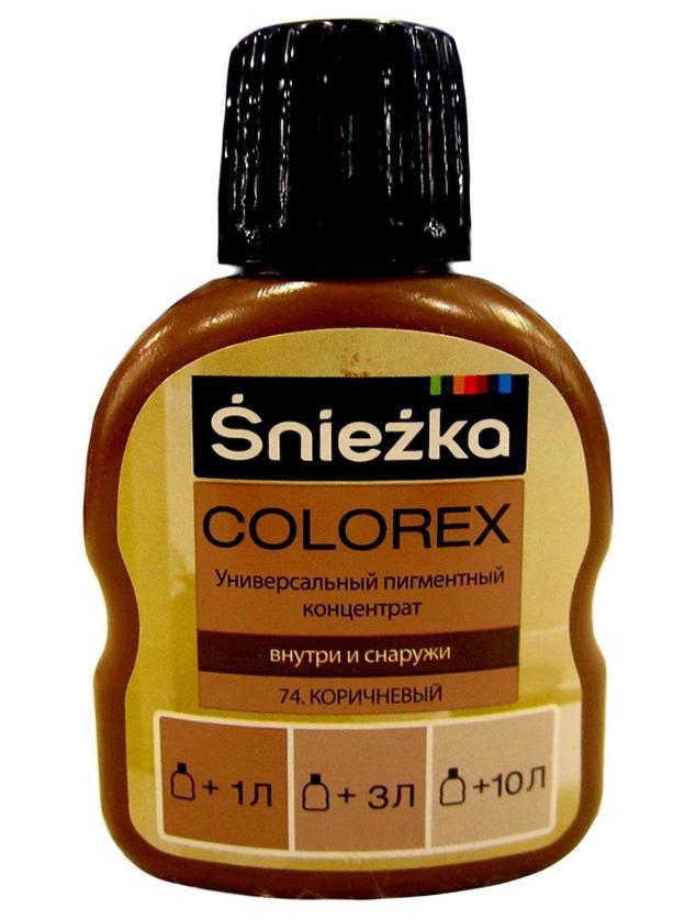 Универсальный пигментный концентрат Colorex Sniezka 74 коричневый 100 мл