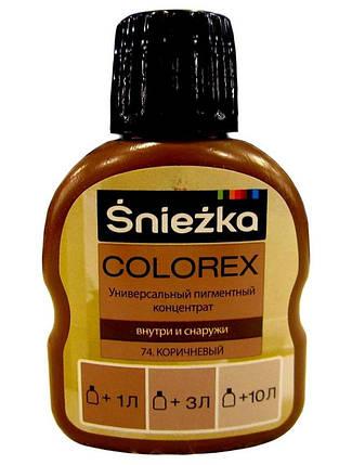 Универсальный пигментный концентрат Colorex Sniezka 74 коричневый 100 мл, фото 2